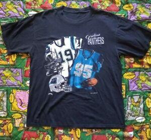 Vintage Carolina Panthers Nutmeg Shirt Mens L 1993 NFL