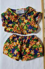 New ListingBuild A Bear Workshop Outfit Matching Shorts & Hawaiian Shirt 2 Pcs Lot Set