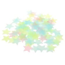 100Pcs Glow In The Dark Stars Room Ceiling Wall Glowing Sticker 3cm Multi