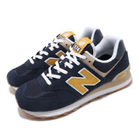 New Balance ML574SPF D 574 Navy Yellow White Men Women Unisex Shoes ML574SPFD