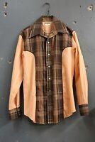 Vintage 1950's Pearl Snap Western Shirt Fashioned by Jodie western wear plaid