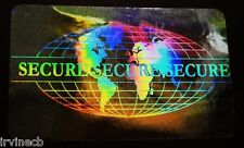 Hologram Overlays Secure World Overlay Inkjet Teslin ID Cards - Lot of 5