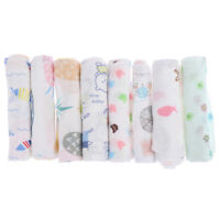 Cartoon baby handkerchief square pattern towel washed cotton infant face to IO
