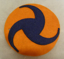 PRE WWII AAF PINWHEEL 2PC CONSTRUCTION FELT ON FELT EMB ON FELT HARDER TO FIND