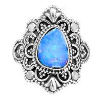 Artisan - Australian Opal 925 Sterling Silver Ring Jewelry s.6 RR203164