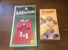 BUNDLE Vintage BOGGLE Three Minute Word Game By Parker 1978 + Addiction Game
