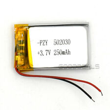 5Pcs 3.7V 502030 250mAh Lipolymer Rechargeable Cell Lipo Battery For GPS MP3 MP4