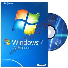 WINDOWS 7 PROFESSIONAL DVD PACK ADESIVO PRO SEVEN 32 64 LICENZA OEI ORIGINALE