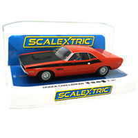 Scalextric C4065 Dodge Challenger - Red & Black 1/32 Slot Car