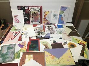 Lot of 50 Greeting Cards With Envelopes Birthday All Occasion Hallmark Etc