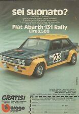 X9212 Fiat Abarth 131 Rally BBURAGO - Pubblicità 1977 - Advertising
