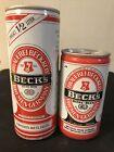Becks Beer Cans lot of 2 vintage Becks cans