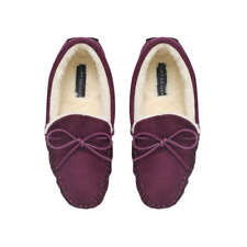 KURT GEIGER MOCCASIN SLIPPERS, BROWN, LARGE, (45/46), NEW IN BOX.