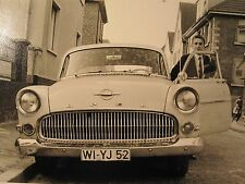 VINTAGE MID MOD BELGIUM OPEL CAR AUTO LICENSE PLATE YOUNG MEN OLD  1964 PHOTOS
