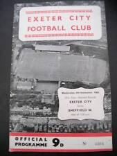programme , Exeter City v Sheffield Weds., 07.09.1968
