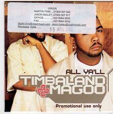 (FI658) Timbaland & Magoo, All Ya'll - 2002 DJ CD