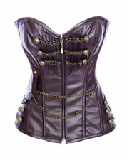 Faux Leather Zip Corsets & Bustiers for Women