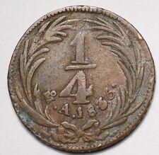 MEXIQUE : 1/4 REAL 1835 MEXICO