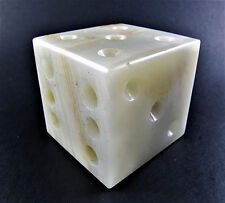 CARVED STONE ONYX DICE PAPERWEIGHT (A34)