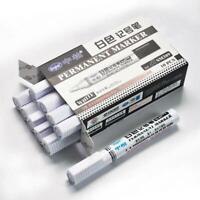 10 PCS White Tyre Paint Marker Pens Set Waterproof Tire Rubber Marker Pen