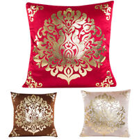 "18x18"" Gold Foil Print Pillow Case Bed Sofa Waist Throw Cushion Cover Home KE"