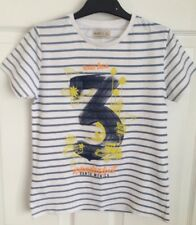 Kids Blue/White Striped ZARA T Shirt - Age 8yrs