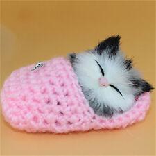 Cute Slipper Kitten Soft Plush Doll Toys w/Sound Stuffed Animal Baby Kids Gift