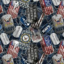 United States Navy Cotton Fabric Dog Tags-US Navy Cotton Fabric