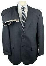 Bill Blass Mens 42S Dark Gray Check Wool 2 Piece Suit With Dress Pants 36Wx28L