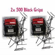 """HairTools 2"""" Black Waved Grips 500 per Box-Duo Pack x2 Boxes"""