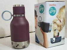 NEW Asobu NA-SDB1 BURGANDY Vacuum Insulated Water Bottle with Dog Bowl 40oz/1.1L