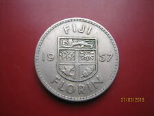Fiji 1957 Regina Elisabetta II FIORINO Coin