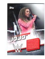 WWE Jojo 2016 Topps Divas Revolution Event Used Shirt Relic Card SN 37 of 199