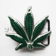 Marijuana Leaf Weed Metal Belt Buckle