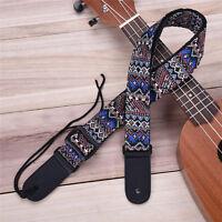 Adjustable Bohemian Woven Ukulele Strap Sling With Hook For Ukulele Guitar
