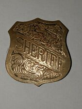 Repo Old West Metal Badge Sheriff  - western cowboy novelty