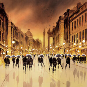 Peter Rodgers Grey Street Reflections Limited Edition Giclee print