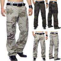Pantalon cargo Army Loose Fit Cargo travail Beige Kaki Baggy Ranger Style coton