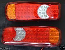2x 24V LED-LEUCHTEN HECKLEUCHTE für KIPPER ANHÄNGER-FAHRGESTELL LASTWAGEN