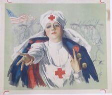 World War I Red Cross Original Vintage Poster