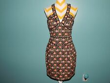 FRENCH CONNECTION Sun Dress Pinup Rockabilly Retro Dragonfly sz 8 FAB lknw