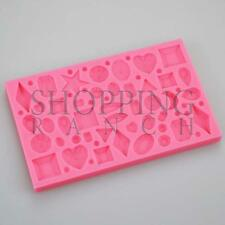 Diamond Jewels and Gems Heart Circle Silicone Mould Cake Cupcake Toppers