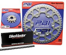 NICHE Drive Sprocket Chain Combo for Kawasaki KX100 Front 13 Rear 49 Tooth 420V O-Ring 124 Links