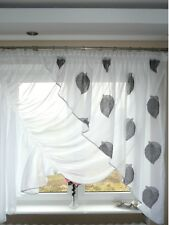 Ready Made Window Curtain Voile Net Curtain 150 X 350 Cm Brown Ag2 Art Deco