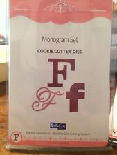 NEW Quickutz / Lifestyle Crafts 'Monogram F' (3 Die Set) Cookie Cutter Dies Die