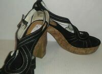 *NEW* Women's MIXIT Wedge Heels Sandals Strap Shoes, Size: 8.5 - Black, ORP $50