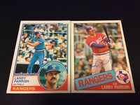 Lot Of Two Topps Texas Rangers Larry Parrish Autographed Baseball Cards