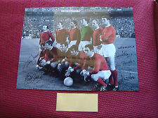 MANCHESTER UNITED 1968 EUROPEAN CUP *6* PERSONALLY HAND SIGNED 16x12 PHOTO - COA