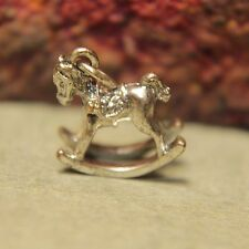 Vintage Cute Rocking Horse Nursery Childs Sterling Silver 925 Charm - 1.6g