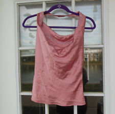 Laundry by Shelli Segal Drape Neck Charmeuse Halter Top, Dusty Pink, XS